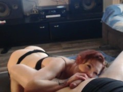 1 hour cock sucking training of my submissive bitch wife ! nice whore