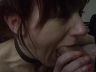 cuckold wife sucks hubby's huge cock till ecstasy !