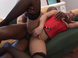 little bubble butt blonde gets anal by bbc