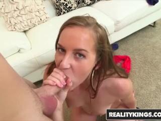 Cum Fiesta - Charli Maverick's first time in porn