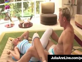 Elegant Milf Julia Ann Cums While Anal Fucking A Yoga Master