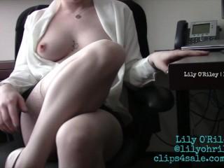 secretary upskirt without bra