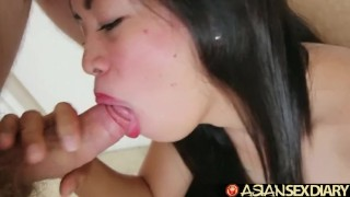 While In The Philippines I Had Sex With These Two Beauties  asian slim blowjob small tits pov big dick hardcore asiansexdiary brunette cowgirl petite threesome filipino cream pie oral sex hand job