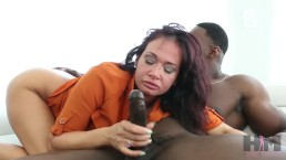 Hussie auditions: busty brunette milf tory lane takes on jax slayher's big black cock