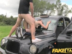 Fake Taxi Olive skin brunette gets fucked on car bonnet