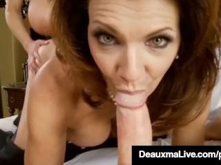 Sexy Milf Deauxma Blindfolds Kelly Madison & Fucks Hubby!
