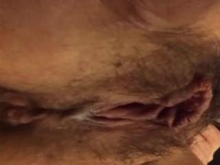 Creamy Pussy Pee close up
