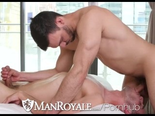 ManRoyale Tight ass massage and fuck with Slater James and Jason Maddox