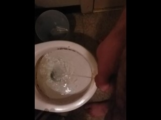 Amateur Male Pisses in Toilet