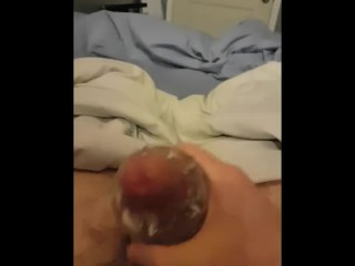 BR asks to see my cum while she's gone with quickshot