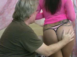 Ela's First Time Sucking Cock On Video