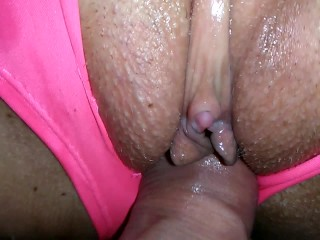 Ripped Panty Hotel Sex ! Chubby MILF w/ Big Boobs Fingered, Fucked & Piss