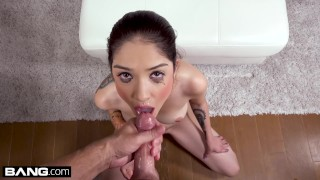 Petite Teen Jericha Jem gets a load to the face after losing a bet