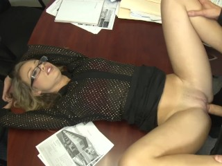 CHARLEE MONROE CATCHES BOSS JACKING OFF - WANTS TO SHOW OFF HER ASSETS