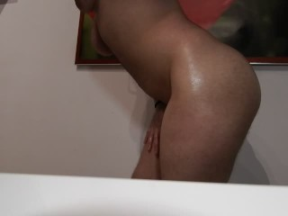 Introducing ftm's big oiled bubble butt ass with music and ass spreading