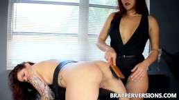Lesbian Domination Love: Spanking my bitch
