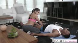 Black is Better - Hot yoga teen Abella Danger loves BBC