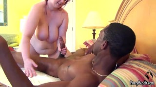 BBW fucks BBC  interracial butt big boobs big cock black power redhead chubby