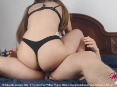 18 Years old Tight Pussy / Big Ass in Yoga Pants, Homemade Sex - MiaQueen