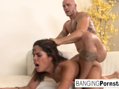 Jasmine Blaze takes to from behind