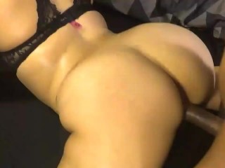 Slutty big booty daughter get's her tight pussy fucked hard! ASS NUTTED ON!