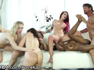 DevilsFilm 4 Horny Chicks Service 2 Big Dicks!