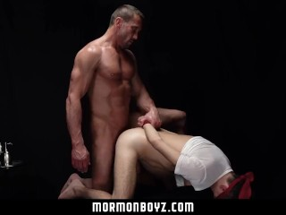 MormonBoyz - Intense muscle daddy priest blindfolds and barebacks misbehavi