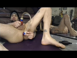 Stud gets wild Pissing in own ass & fucking it out, DP, GAPE, ATM &Rosebud