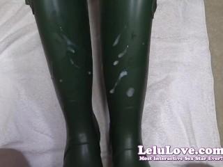 Lelu Love-Wellies Masturbation Cumshot On Boots
