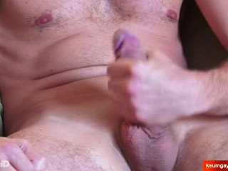 Mathieu's cock massage ! (My neighbour seduced for gay porn)