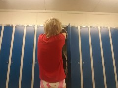 Changeing wet diaper after work