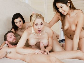 FamilyStrokes - Hot Teens Blackmail And Fuck Bangin Milf