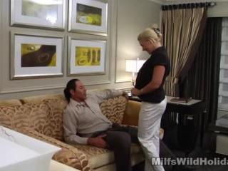 Busty Milf Heidi Strips Down