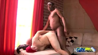 Interracial Encounter Ends With Cumshots