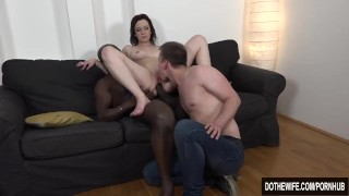 Interracial anal creampie housewife  vaginal sex high heels bbc bj creampie wife blowjob dothewife big dick brunette 3some cream pie pussy licking natural boobs lena dark tattooshaved