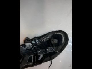 Pissing on my running shoes
