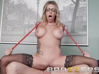 Brazzers - Inked office babe gets pounded at work