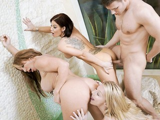BadMILFS - Hot MILF Shares Stepson With BFFS