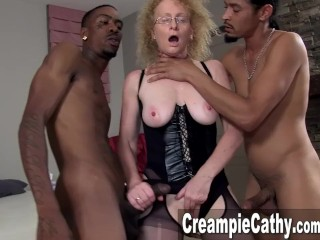 Massive BBC Creampie for Cougar