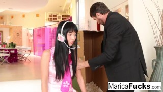 Preview 3 of Sex robot Marica gets anally charged by Steve Holmes