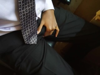Well Dressed Man Touches His Cock In Public