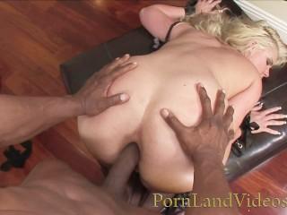 Slutty Blonde milf takes Big Black Cock in Fat Big Ass