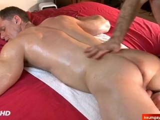 Stefen's big cock massage ! (handsome neighbour seduced for gay porn)