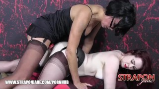 Strapon Jane fucks gorgeous curvy soft pale skinned redhead babes wet pussy  big tits british strapon redhead masturbate mom busty domination milf hardcore kink lesbian brunette butt mother straponjane big boobs adult toys girl girl