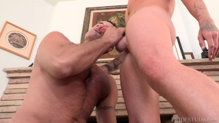 Preview 6 of Boarder Fucks Thick Dick Daddy To Get Skateboard Back