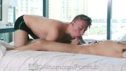 GayRoom Massage fuck with Miles Taylor and Andy Banks