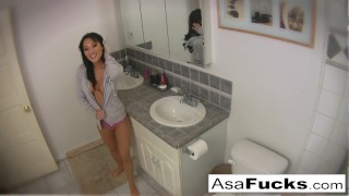 Asa sets up two cameras for you to see her get nice and horny  asa akira asian babe ass raven boobs tease bombshell solo masturbate pornstar puba tattoo asaakira skinny japanese pussy hottie asafucks shaved pussy