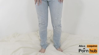 Ripping her Jeans and Fucking a F cup Tits teen !  fuck with clothes tight jeans point of view teen jeans young kink jeans fetish teenager fuck my jeans big boobs alicecoquine jeans fuck clothed sex clothed titfuck jean