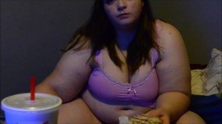 Bbw Yoshiko Fat girl eats burgers getting fatter, jiggling and shaking  japanese kink butt big boobs fat ass big titties weight gain ass jiggle shake bbw huge chubby