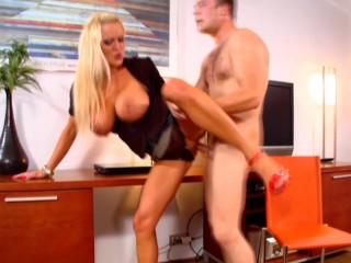 She wants a big cock between her huge boobs